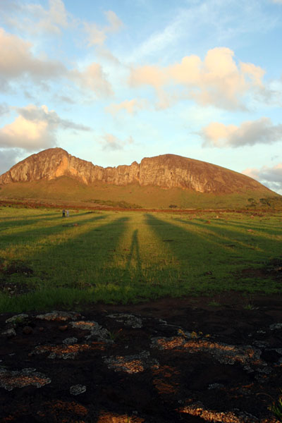 Tongariki Shadows on Easter Island