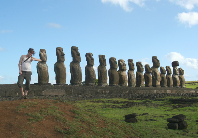 Easter Island - Tongariki perspective By Alexis Baran