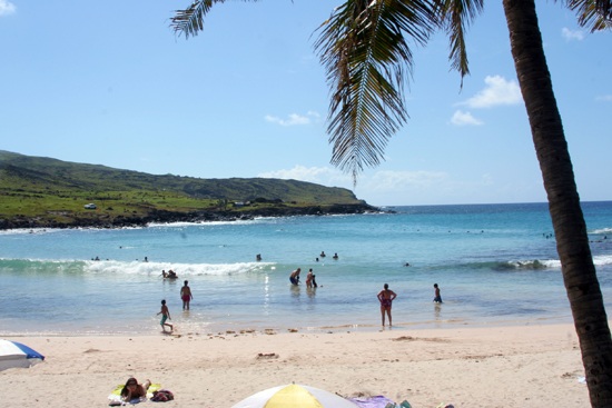 An idyllic Polynesian beach